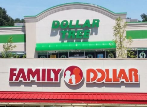 Picture of Dollar Tree and Family Dollar stores